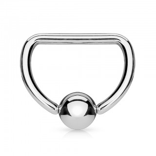 Ball closure ring in D shape