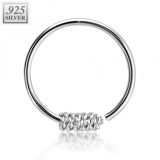 Nose ring with fixed rope ball
