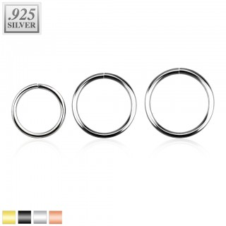 Multifunctional piercing ring made of sterling silver