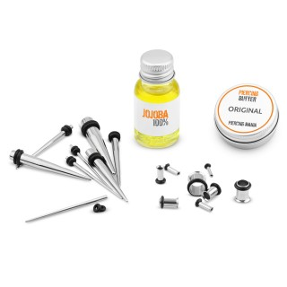 The ultimate ear stretching kit with tunnels
