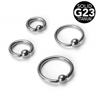 Solid titanium ball closure ring
