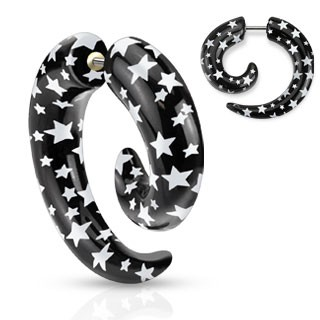 Fake spiral taper with stars print