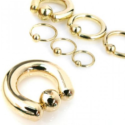 Vergulde ball closure ring