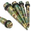Straight stretcher met donkere camouflage print