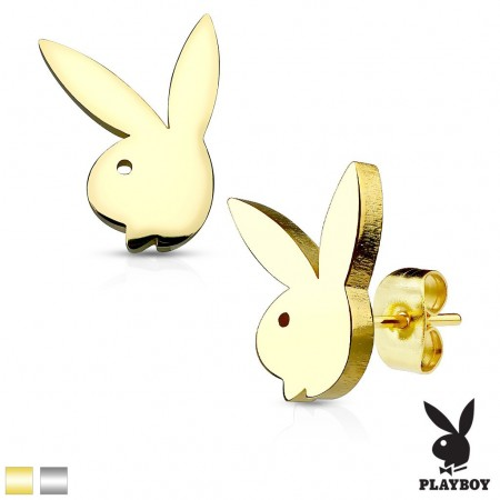 Ear piercings with Playboy bunny