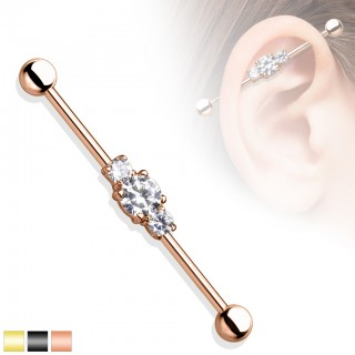 Coloured industrial bar with centred diamonds
