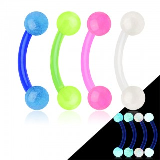 Flexibele glow in the dark curved barbell