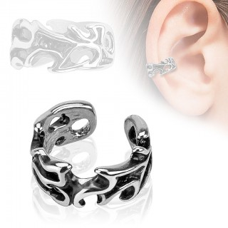 Helix ring with tribal pattern