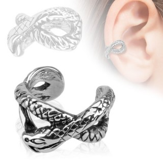 Helix ring with snake