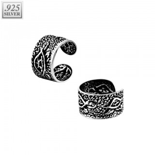 Fake ear cuff of .925 sterling silver with turtles