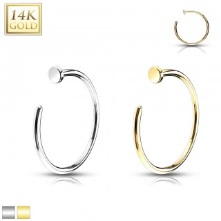 Solid gold nose hoop