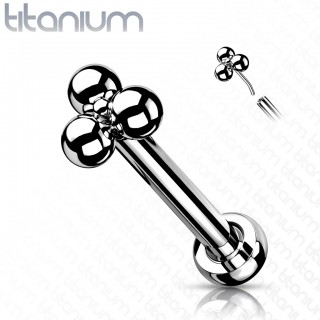 Titanium Push-Fit Labret with triple ball top