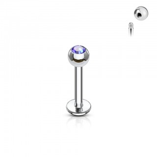 Labret met press fit juweel