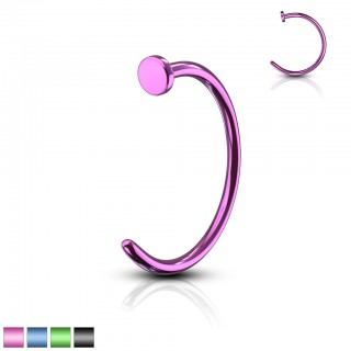 Coloured plated steel nose piercing