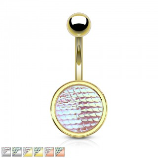 Coloured belly bar with large fish scale disc