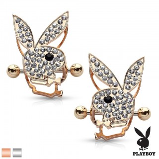 Pair of nipple shields with gems in Playboy Bunny