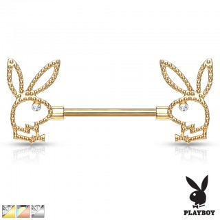 Playboy Bunny nipple bar decorated with crystal eyes