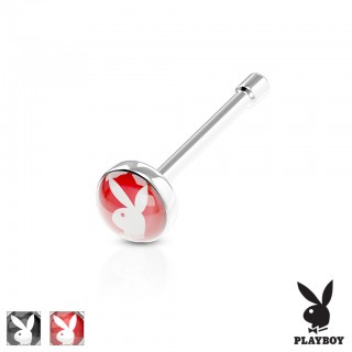 Nose bone with Playboy logo on top