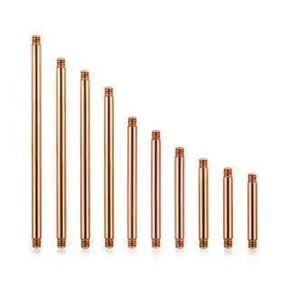 Rose gold coloured loose bar for barbells