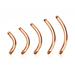 Rose gold coloured loose bar for curved barbells