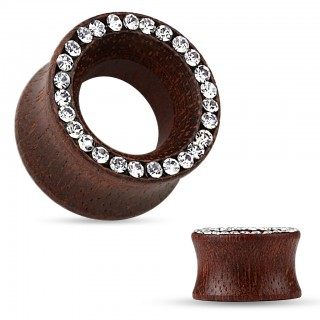 Fashionable Rose Wood saddle fit tunnel with stones