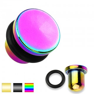 Titanium plated ear stretching plugs