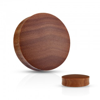 Dark brown Saba Wood plug