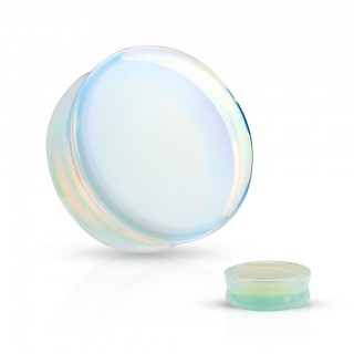 Saddle fit plugs made of natural opalite stone