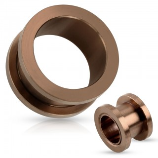 Bronze coloured screw fit tunnel