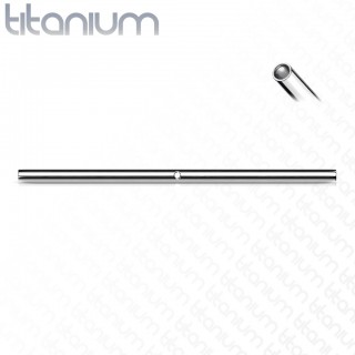 Solid titanium Internally threaded loose curved bar