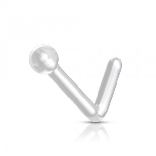 Bioflex nose stud retainer with 2 mm ball