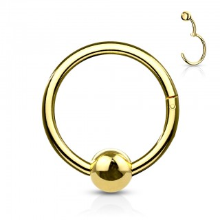 Gekleurde ball closure klik ring met 4 mm vast balletje