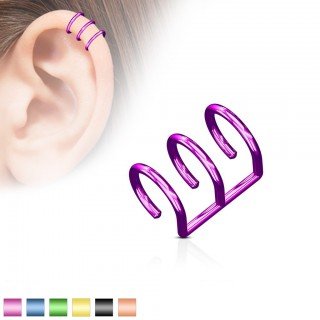 Fake helix triple ring with colour options
