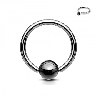 Hematite plated captive bead ring