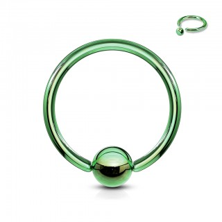 Gekleurde ball closure ring met titanium plating