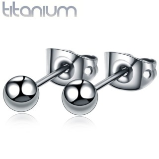 Pair of solid titanium ear studs