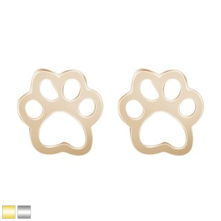 Cute animal paw shaped earring pair