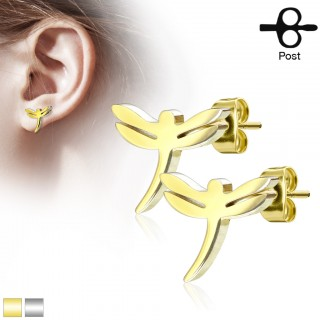 Dragonfly decorated earrings