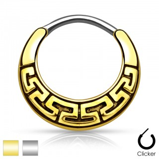 Septum clicker with maze pattern