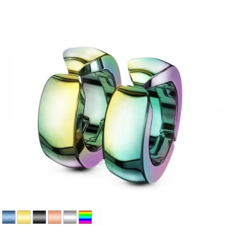 Pair clip on earrings in neon colours