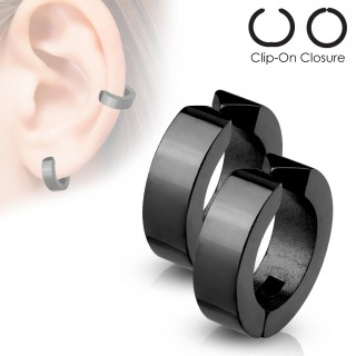 Set neppe clip-on oor ringen met plating