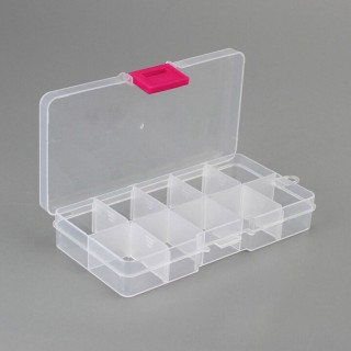 Clear storage box for piercings and jewellery