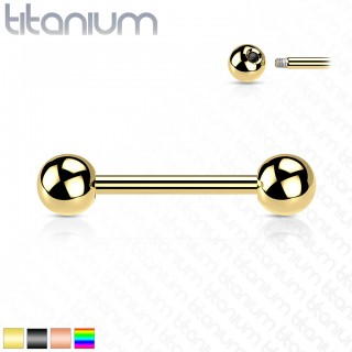 Titanium Barbell with Coloured PVD Coating
