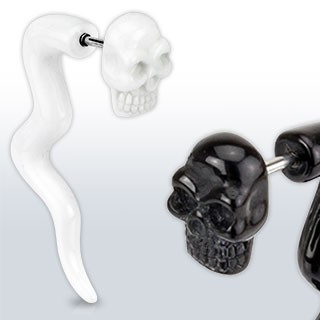 Fake curved taper with skull