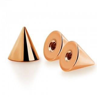 Rose gold coloured normal threaded spikes