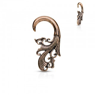 Antique rose gold taper hanger with tribal pattern