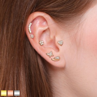 Ear cartilage set with 6 figurine studs