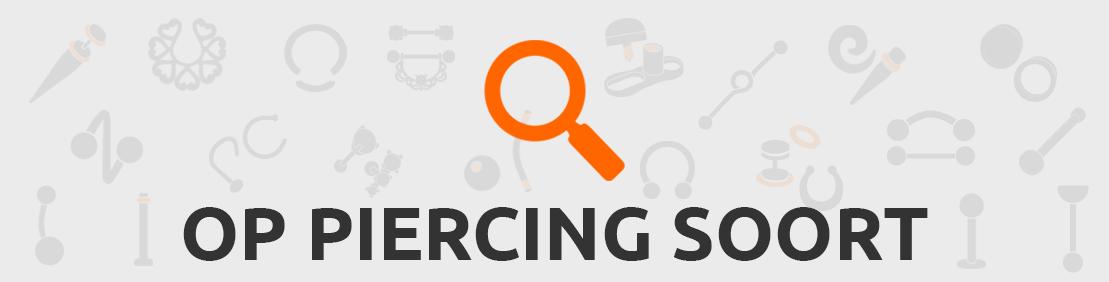 Piercings zoeken op soort